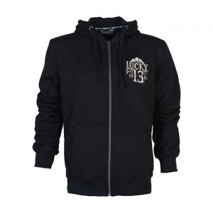 Lucky 13 Dead skull zip hoodie black; male EU size M