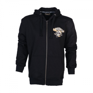 Lucky 13 Booze bikes & broads zip hoodie black; male EU size XL