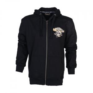 Lucky 13 Booze bikes & broads zip hoodie black; male EU size 2XL