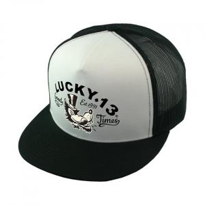 Lucky 13 Mr. Wolf Snapback trucker cap poplin mesh
