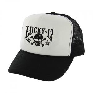 Lucky 13 Skull stars Trucker cap foam mesh printed