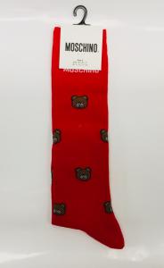 Calza unisex rossa Moschino