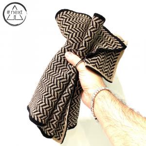 #NEXT - Sciarpa in lana Merino, Viscosa e Cashmere - Colore nero e beige.