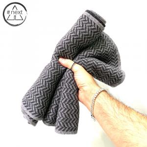 #NEXT - Sciarpa in lana Merino, Viscosa e Cashmere - Colore grigio.
