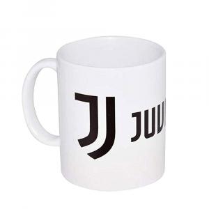Tazza Juventus cilindrica bianca in ceramica