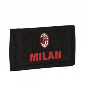 Portafoglio Milan a strappo con logo ufficiale