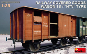 "RAILWAY COVERED GOODS WAGON 18t ""NTV"" TYPE"