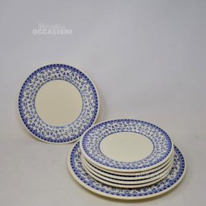 Piatti Dolce 6+1 Collezione Provenza Ceramica Besio