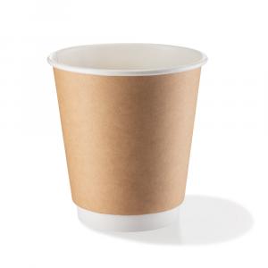 Bicchieri biodegradabili doppio strato 360ml Avana