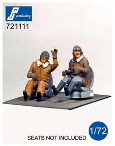 WWI Pilots seated in a/c