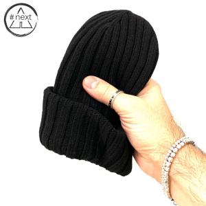 #NEXT - Berretto in lana Merino, Viscosa e Cashmere - Colore nero