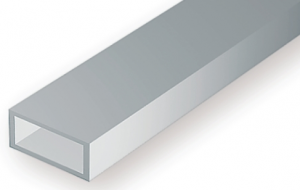 OPAQUE WHITE POLYSTYRENE RECTANGULAR TUBING