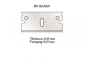 Razor blade 0,25 mm 5 pcs