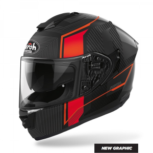 CASCO INTEGRALE MOTO AIROH St.501 ALPHA RED MATT 2020 ST.5A55