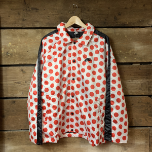 Giacca Nike Bianca con Pois Rossi