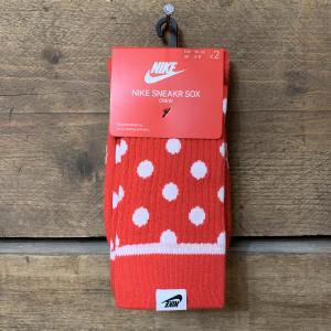 Calzini Nike Rossi a Pois Bianchi