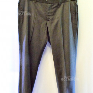 Pantalone Uomo Grigio Classico Gucci Tg 52 (difetto Tasca
