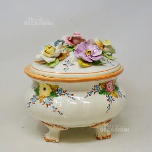 Zuppiera Ceramica Bassano ( Difetto 2 Petali)