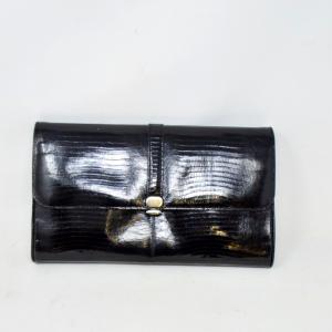 Pochette Vintage Nera Con Tracolla Dorata