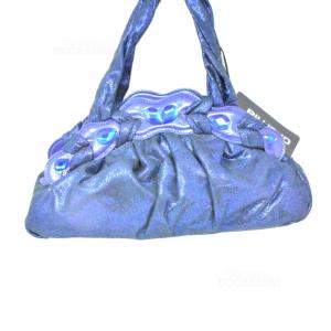 Borsa Blu Metalizzata Cromia