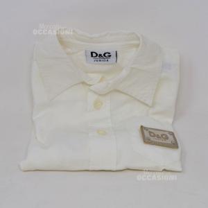 Camicia Bambino Bianca D&G Anni 3 Originale