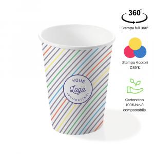 Bicchieri personalizzati biodegradabili cartoncino 500ml