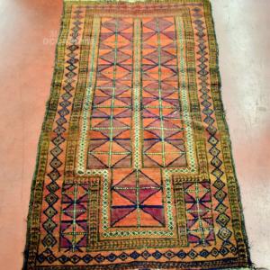 Tappeto Persiano 150*83 Colore Rosso Forme Geometriche