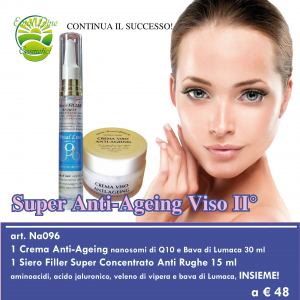 Siero Filler 15 ml + Crema Nanosomi di Q10 30 ml in OMAGGIO