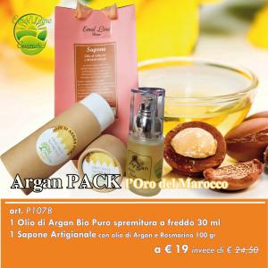 ARGAN Pack - L'Oro del Marocco + Sapone Argan e Rosmarino in Omaggio
