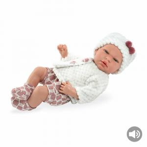 ARIAS - Dolce Bebè cm.40 con Sonaglio e Ciuccio