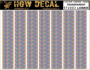 5 Colour Lozenge Lower - Transparent