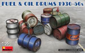 FUEL & OIL DRUMS 1930-50s