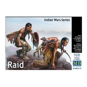 Indian Wars Series Raid Indian Warriors on Warpath w/Weapons (2)
