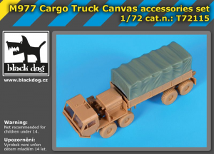 M977 Cargo truck canvas accessories set