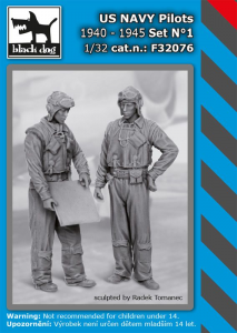 US NAVY pilots 1940-45 set No.1 (2 fig.)