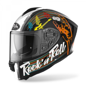 CASCO INTEGRALE MOTO AIROH SPARK ROCK'N ROLL BLACK GLOSS 2020 SPR17