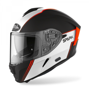 CASCO INTEGRALE MOTO AIROH SPARK FLOW ORANGE MATT 2020 SPF32