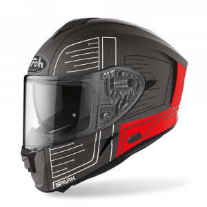 CASCO INTEGRALE MOTO AIROH SPARK CYRCUIT RED MATT 2020 SPC55