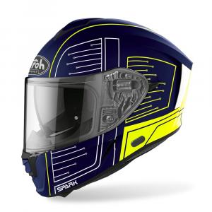 CASCO INTEGRALE MOTO AIROH SPARK CYRCUIT BLUE MATT 2020 SPC18