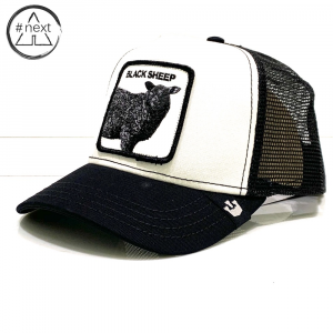 Goorin Bros - Animal Farm Truckers - Black Sheep - Bianco nero
