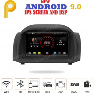 ANDROID 9.0 autoradio navigatore per Ford Fiesta 2009-2012 GPS DVD USB SD WI-FI Bluetooth Mirrorlink
