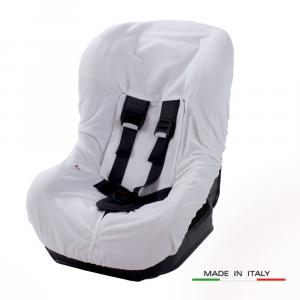 Rivestimento per seggiolino auto 0-18 KG  in spugna di cotone colore Bianco