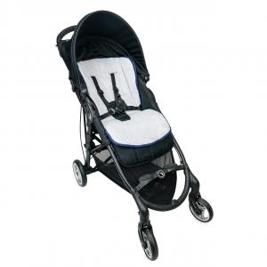Babysanity Materassino the lux universale grandi dimensioni per passeggino in spugna di cotone bordato in Blu