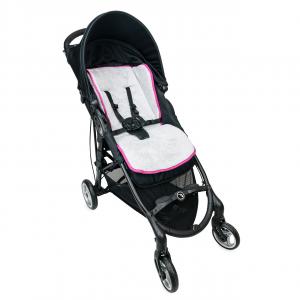 Babysanity Materassino the lux universale grandi dimensioni per passeggino in spugna di cotone bordato in Fuxia