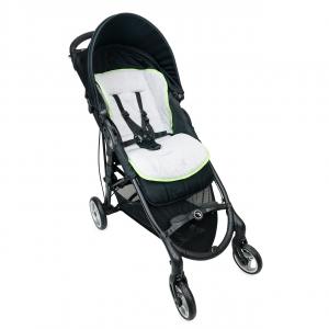 Babysanity Materassino the lux universale grandi dimensioni per passeggino in spugna di cotone bordato in Verde