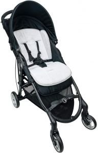 Babysanity Materassino the lux universale grandi dimensioni per passeggino in spugna di cotone bordato in grigio