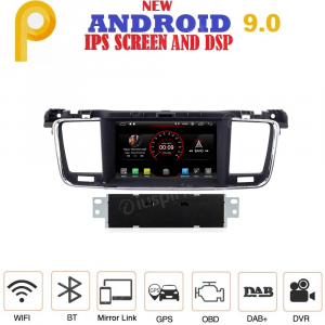 ANDROID 9.0 autoradio navigatore per Peugeot 508 2011-2017 GPS DVD USB WI-FI Bluetooth Mirrorlink