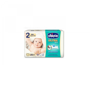 Chicco Ultra Soft Newborn Diapers 3-6Kg 25 Units