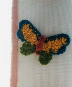 Tenda a vetro con farfalla