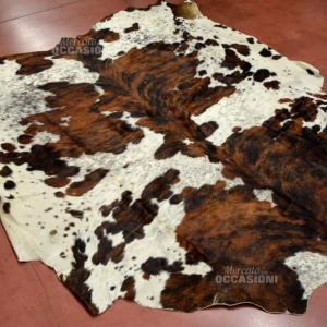 Tappeto 50-50cod. Mucca Marrone Bianco